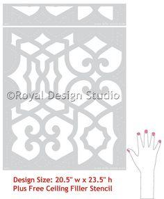 Moroccan Trellis Wall Stencil Pattern Chez by royaldesignstencils