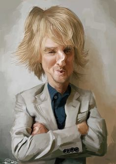 owen wilson caricature http://www.designpromotivate.com/2013/08/caricature-art-illustrations-celebrities.html