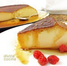 Flan de yogurflanligero de queso de limón < Divina Cocina