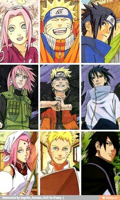 Sakura, Naruto, and Sasuke from beginning to end.I'll miss Naruto...i was crying....I can't believe it!It  ended...crying again