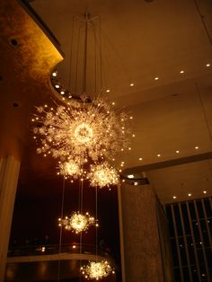 Met Opera House at Lincoln Center -- Swarovski chandeliers in grand lobby