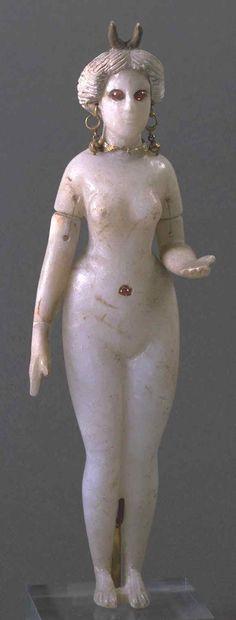 Babylonian alabaster Goddess, possibly Ishtar or Astarte.