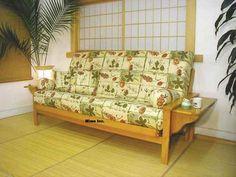 Akida (bi-fold)Tray Arm Futon Couch, Futon Covers, Futons, Mattress, Arm, Furniture, Home Decor, Decoration Home, Arms