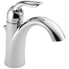 Single Handle Bathroom Faucet, Bathroom Sink Faucets, Bathroom Chrome, Concrete Bathroom, Craftsman Bathroom, Delta Faucets, Kitchen And Bath, Chrome Finish, Plumbing