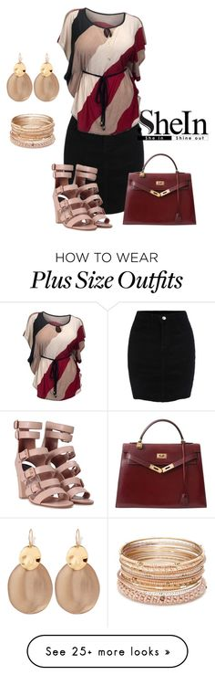 """Black Bodycon Corduroy Skirt"" by jamink on Polyvore featuring Laurence Dacade, Hermès, Alexis Bittar and Red Camel"