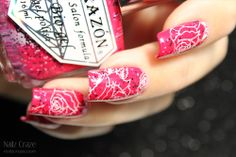 Roses Are Red... - A diary of a nail polish addict  rose design: Nailz Craze NC06 plate