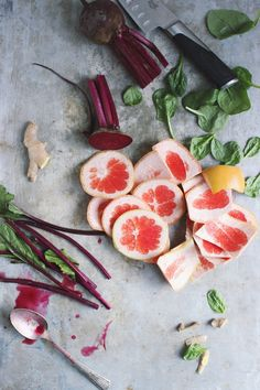 Beet Grapefruit Green Juice | @withfoodandlove