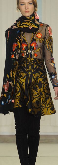 Temperley London Fall 2014 don't love the see-through but it reminds me of Granate Pret stuff by @Lady Dewhurst