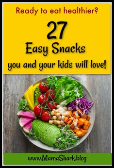 Do you want to eat healthier this year? We've got snacks covered! Easy, healthy, real food snacks that you and your kids will love- plus a printable for your fridge to help you remember! Easy Snacks For Kids, Healthy Kids, Healthy Eating, Healthy Cooking, Healthy Food, Clean Eating, Yummy Food, Whole Food Recipes, Healthy Recipes