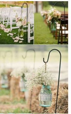 Rustic outside wedding, outside wedding decorations, outside wedding Rustic Outside Wedding, Outside Wedding Decorations, Outside Wedding Ceremonies, Wedding Ceremony Flowers, Rustic Wedding Centerpieces, Ceremony Decorations, Outdoor Ceremony, Outdoor Weddings, Wedding Ideas For Outside