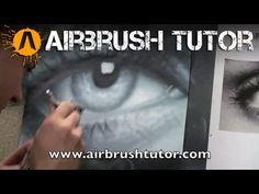 Airbrushing the eye 2