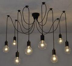 6 luces inicio deco vintage diy industrial accesorio de la lmpara kuvahaun tulos haulle modern nordic retro edison bulb light chandelier adjustable aloadofball Image collections