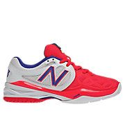 New Balance 996, White with Neon Pink