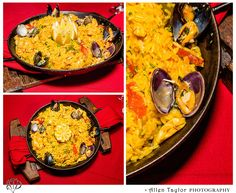 The Saffron Rice Chorizo was packed with flavor and tons of seafood! Saffron Rice, Seafood Paella, Calamari, Mussels, Clams, Chorizo, Long Beach, Manila, Shrimp