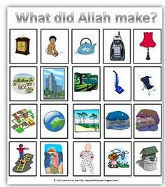 What did Allah make? sorting cards