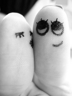share the love  finger people