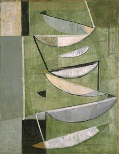 'Green, Black and White Movement' (1951) by Sir Terry Frost (1915-2003). oil on canvas, 1092 x 851 mm. The Tate
