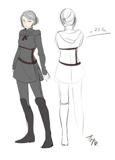 Concept art of Mariam Futapie before becoming a maid by Ichika