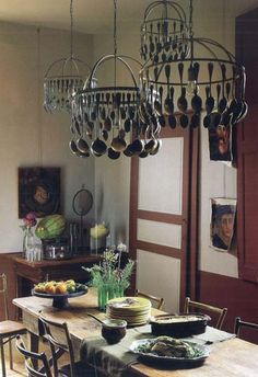 1000 images about spoon collection displays on pinterest - Lamparas colgantes rusticas ...