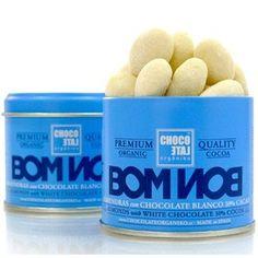 Grand Cru White Chocolate 30% with Almonds 90g. Chocolate Orgániko