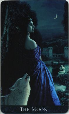 The Moon, from the Bohemian Gothic Tarot. ( Major arcana)