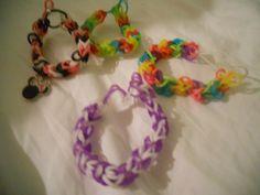 Diamond pattern Rainbow Loom bracelets.  sarahvrichard@hotmail.com