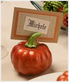 Pumpkin Place-card Holders