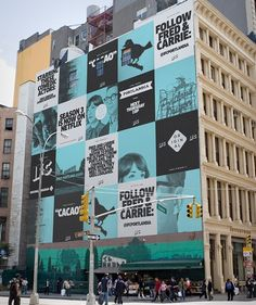 The online portfolio of Ryan Moore, a NY based Creative Director and Motion Graphic Designer. Environmental Graphics, Environmental Design, Design Graphique, Art Graphique, Identity Design, Visual Identity, Hoarding Design, Channel Branding, Brand Campaign