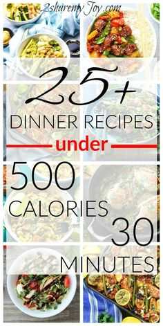 I love number 19 of these 25+ dinner recipes under 500 calories and 30 minutes. There are some dinner recipes under 20 minutes and they all are great options if you are trying to lose weight but need fast and healthy dinner recipes