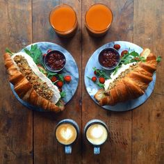 Loving Boyfriend Prepares Symmetrical Breakfasts for Himself and His Partner Every Day - My Modern Met