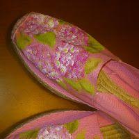 Ropa, zapatillas, ...pintado a mano