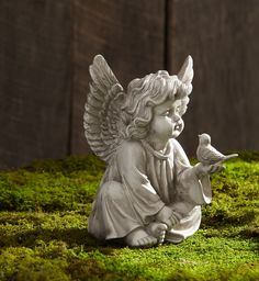 This adorable Cherub Statue is a great way to adorn your home or garden and lift your spirits. Description from kmart.com. I searched for this on bing.com/images