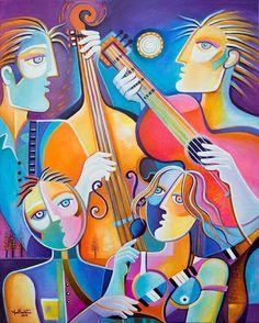 """The Musicians 2""  by Marlina Vera"
