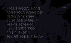 Tegui Restaurant   Costa Rica 5852 Buenos Aires Argentina   +5411 5291 3333
