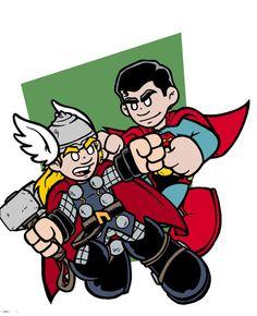 Mini Thor vs Superman