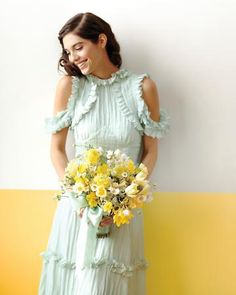 Rodarte for Opening Ceremony dress - pale green with ruffles.