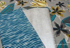 Add metallic linens for a pop of texture and richness. | Newberrysykes.com #robertallen