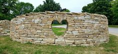 Drystone monument at Pavilions of Harrogate´s roundabout, North Yorkshire, UK. By Johnny Clasper http://www.johnnyclasper.co.uk/