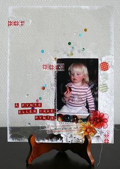 Ideas for Peek-a-Boo Elements on Layered Scrapbook Layouts  | Lise Mariann Alsli | Get It Scrapped