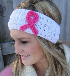 Women's Winter Knit Breast Cancer Awareness by LittlePinkRibbons, $13.00