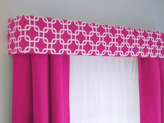 Hot Pink Geometric Cornice Board Valance by DesignerHeadboards, $74.00