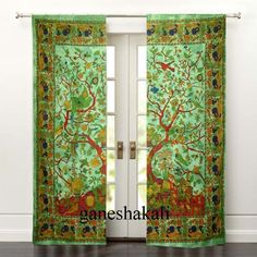 Black Window Crying Wolf and The Moon Curtains Valances Room Divider Door Wall