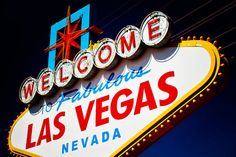 Welcome to Las Vegas Vintage Neon Sign  by RetroRoadsidePhoto, $230.00