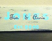 """Small 4""""x12""""  Customized Last Name Sign - Great Wedding Gift"""
