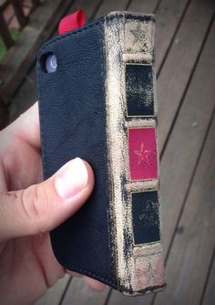 Another iPhone wallet that looks like a book.