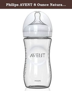 Philips AVENT 8 Ounce Natural Glass Bottle, 1-Pack, Baby Feeding BPA Free. Product Details: The Philips AVENT NEW Natural Glass Bottle is the most natural way to bottle feed. The wide, breast-shaped nipple promotes natural latch-on so you can easily combine breastfeeding and bottle feeding, and the unique comfort petals provide an extra soft, flexible nipple without nipple collapse. In addition, the anti-colic slow-flow nipple helps your baby feed comfortably and easily, and the ergonomic...