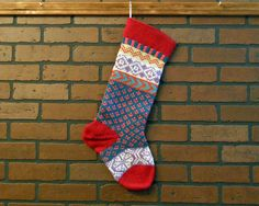 Personalized Hand Knit Christmas Stocking in by CustomBearHugs