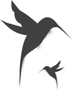 Small Black and White Hummingbird Tattoos | Black Hummingbird Silhouette clip art