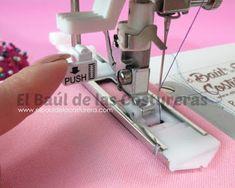 Cómo coser ojales automáticos un tiempo - Maquina de coser Bernina My Bernette London 5 indicador tamaño ojal
