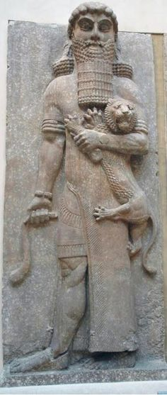 Gilgamesh the Hunter, a relief from Khorsabad, now in the Louvre. This ancient epic was actually a story of Orion the Hunter, and the precessional battle with Taurus.